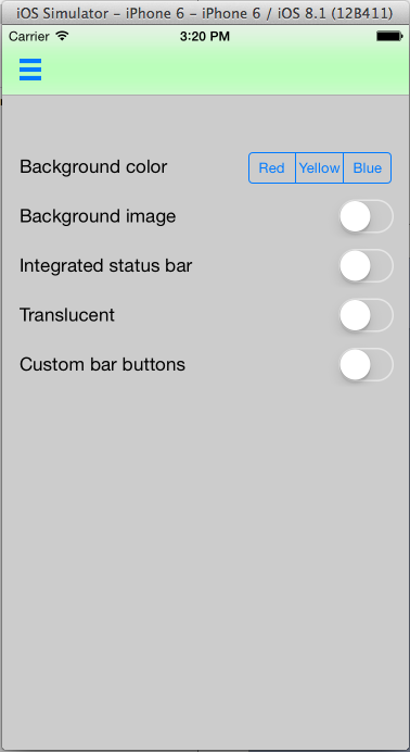 UINavigationBar background color set with UIAppearance proxy