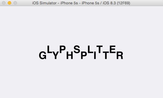 custom position glyph with CATextLayer